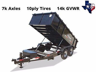 Brand New Texas Pride 7 X 14 Bumper Pull Dump Trailer 14k Gvwr