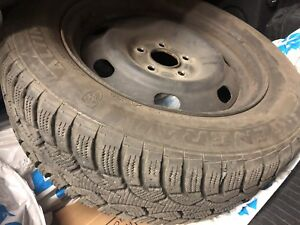 One winter tire with rims