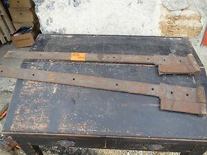 Charnieres de porte ancienne fer forg pentures fiches french antique hinge 3 ebay for Porte en fer forge ancienne