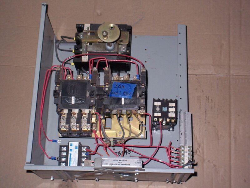 ITE SIEMENS 6500 SIZE 1 REVERSING MOTOR STARTER 30 AMP BREAKER MCC MCCB BUCKET