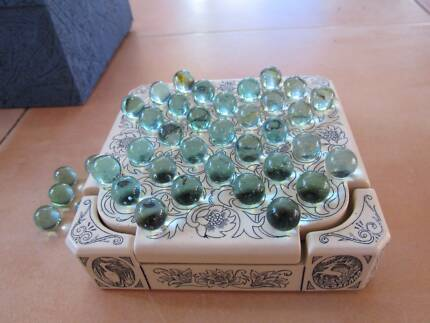 Solitaire Game with Marbles, Stunningly Beautiful Craftsmanship