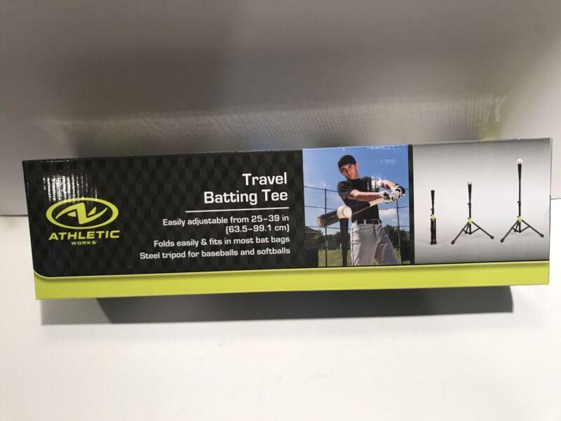 Athletic Works Baseball & Softball Adjustable Travel Batting Tee