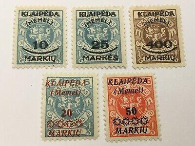 old stamps  MEMEL/KLAIPEDA    x  5