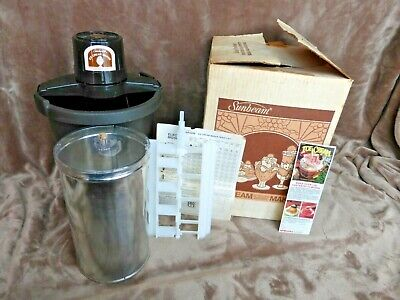 Vintage Sunbeam Ice Cream and Frozen Dessert Maker Electric Homemade Works