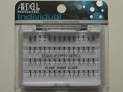 (LOT OF 10) Ardell Duralash Knotted FLARE SHORT Individual Eyelashes Black Ardell Individual Eyelashes Flare