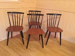 Farstrup teak spindle chairs (made in Denmark)