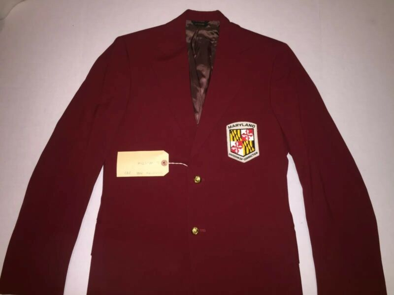 Maryland Department of Corrections Jacket Blazer W/ Patch Vintage