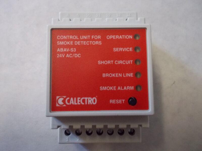 Calectro Abav-s3 24v Smoke Detector Control Unit,24v Ac/dc