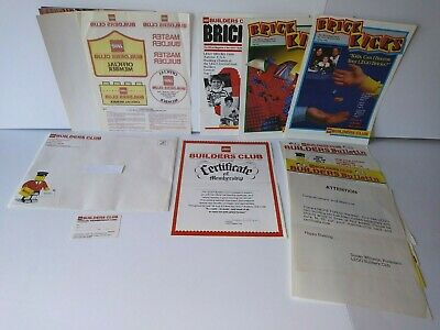 Vintage 1980's LEGO BUILDER'S CLUB Membership Papers, Cards, Poster, Magazines!