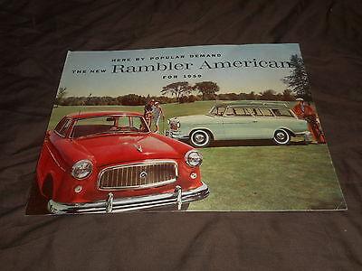 1959 AMC RamblerAmerican Original Color Brochure  Prospekt