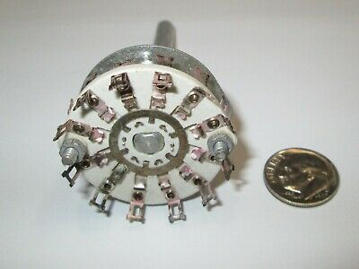 Centralab Ceramic Rotary Switch Special 2 Pole - 11 Positions Bbm Crl Nos