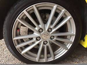4 Tyres 195/45 R17  on Suzuki Swift Sport Alloys  (5 stud not 4) Clarence Town Dungog Area Preview