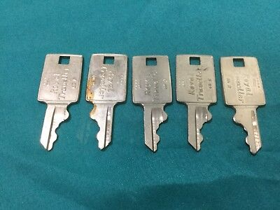 Royal Traveller 60R Luggage Keys, Set of 5 - Locksmith