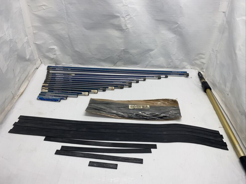 Sobro Products Squeegee Channel Lot 16pcs. with some new rubber
