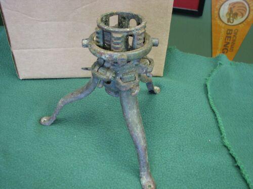 Antique Vintage Christmas Tree Stand Adjustable North Bros. Cast Iron Tree Stand