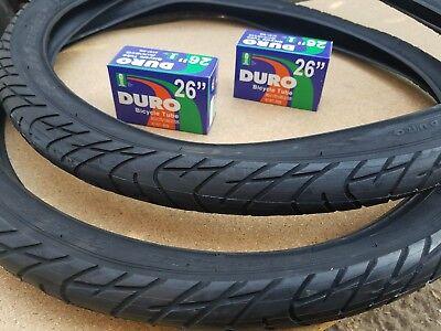 2-26x2.125 DURO Beach Cruiser Bicycle Slick Tires & 2-26