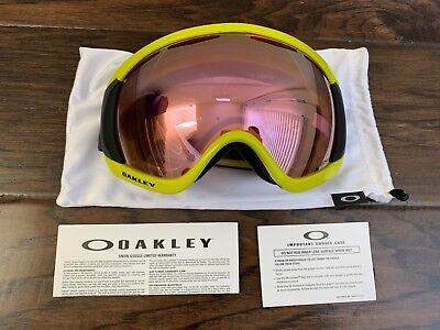 b50b679e7b95 Oakley Canopy Iron Laser Yellow Prizm HI Pink Iridium Ski Snow Snowboard  Goggles