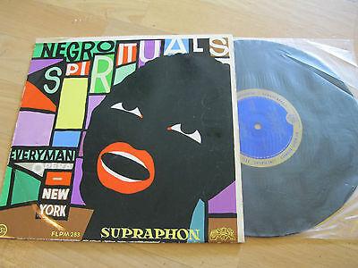 "10"" LP Negro Spirituals Everyman Opera New York Vinyl SUPRAPHON CSSR 1953"