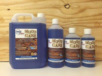 Wood Care - Wood & Laminate Floor Natural Cleaner Protector - 500ml - Ocean