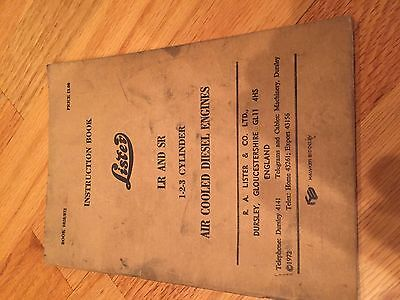 Lister Disel Engine Lr Sr Operation Instructions Manual