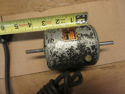 Vintage Rae Motor Corp. Electric Motor Racine Wis. Small Double Shaft Motor