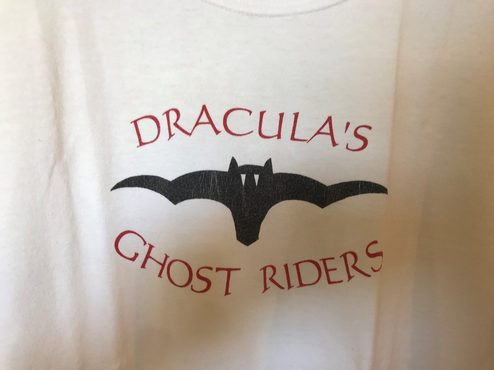 Tee shirt blanc coton dracula's ghost riders taille m halloween