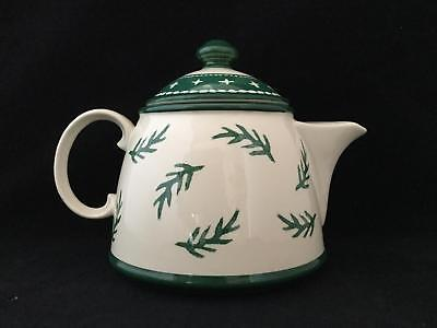 (Holiday Dansk Nordic Knits Green Teapot w Lid Leaf Tree - FREE SHIPPING!!!)