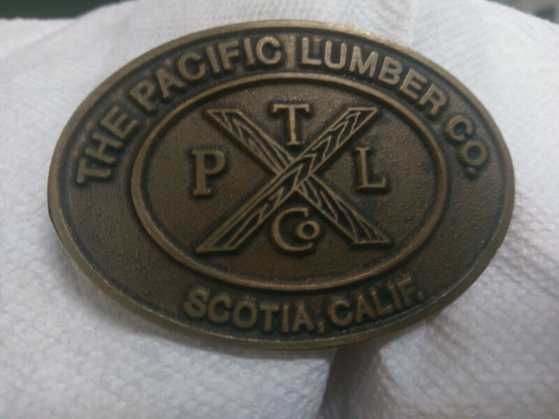 RARE Vintage Pacific Lumber Company Belt Buckle