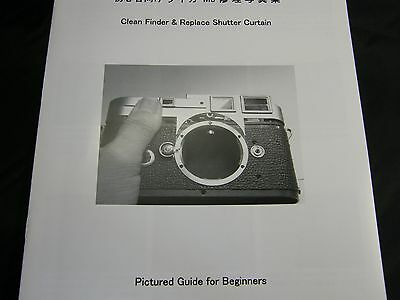 Leica M3 Repair Book Manual, Replace Shutter Curtain & Clean finder