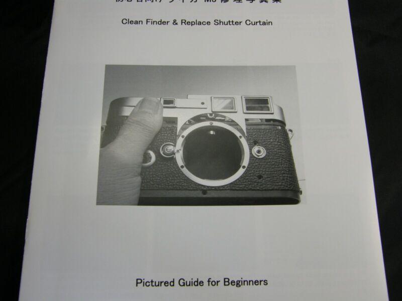 Leica M3 Repair Book Manual, Replace Shutter Curtain & Clean finder