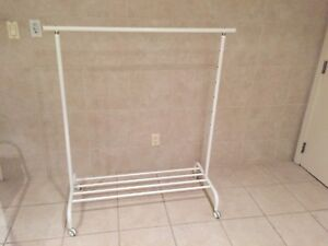 Rolling rack and coat rack