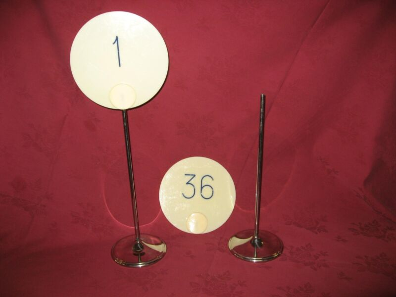 Sambonet 1 -36 Banquet Table Number Stanchions Stainless Steel