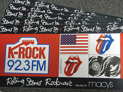 92.3 K-Rock bumper stickers (The Rolling Stones 1989 tour) Howard Stern
