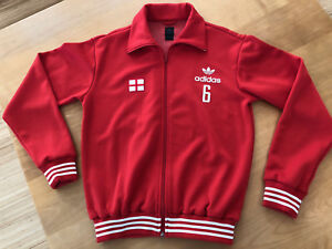 England World Cup New Adidas Jacket Red with Saint George's Cross Size M.