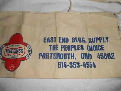 OLD VTG NAIL POUCH NAIL APRON EAST END BLDG. SUPPLY ADVERTISMENT LOUISVILLE K.Y.
