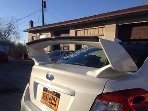 Subaru WRX STI Gurney Flap Carbon Fiber Rear Wing Spoiler 2012-2018 JSP CFS4515