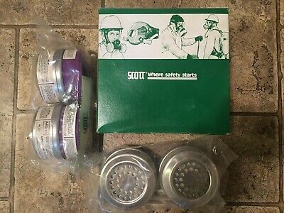 Nib Scott Msha Niosh 642 Respirator Mask Filter Replacement Box Of Four Filters
