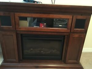 Musoka Electric Fireplace with built in speakers