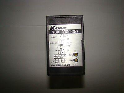 M-system Ktg-u1-b K-unit Signal Conditioner Used