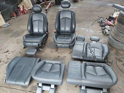 mercedes e class w211 black leather seats interior 2003 - 2009