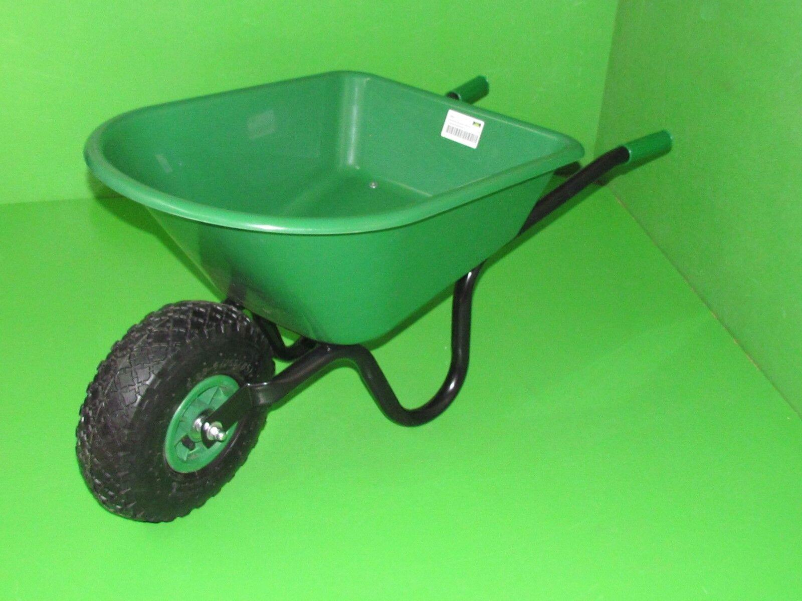 Kinderschubkarre Grün ca. 95 cm, Schubkarre Kinder Gartenschiebkarre Spielzeug