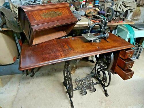 Antique WILLCOX & GIBBS TREADLE SEWING MACHINE Latest Pat. April 17,1883