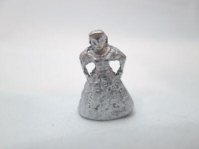 Dollhouse Miniature Unfinished Metal Gypsy Girl doll / figurine