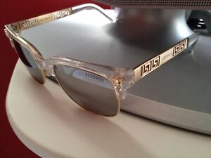 Versace mens sunglasses black and gold made in Italy