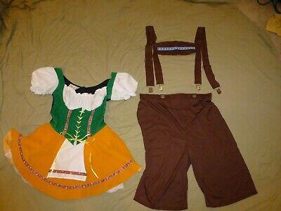 Fancy Dress Couples (COUPLES BAVARIAN FANCY DRESS COSTUMES HIS HERS OKTOBERFEST GERMAN BEER)