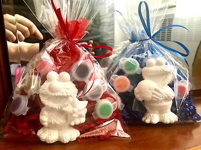 12 Elmo and Cookie Monster  party favors to paint. Sesame street. Boys.Girls