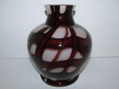 Marked Czech Kralik Deco Art Glass Vase 832