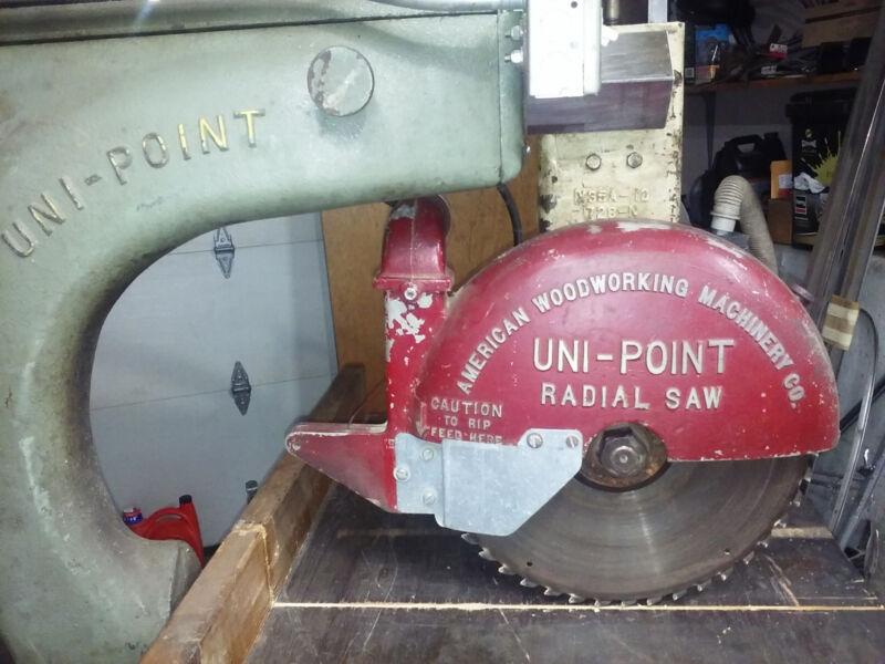 "AMERICAN WOODWORKING UNI-POINT X36AF RADIAL ARM SAW 15"" BLADE 3HP"