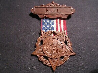 """LADIES OF THE GRAND ARMY OF THE REPUBLIC BADGE """"FCL"""" TOP BAR (Ladies Of The Grand Army Of The Republic)"""