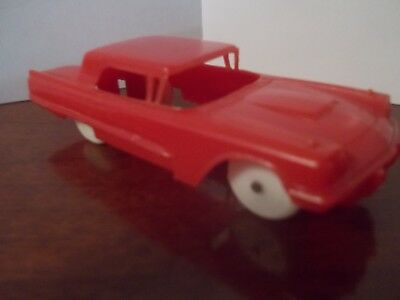 Vintage Plastic Toy Car F & F Mold Die Works CERAL BOX VERY RARE RED 1960 T-BIRD